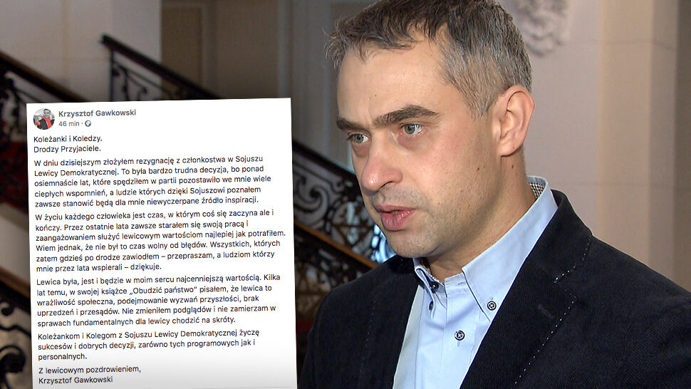 Gawkowski po 18 latach odchodzi z SLD. Szef partii: każdy ma prawo do swojej drogi