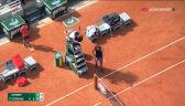 Sprzeczka Zvereva z sędzią w 3. secie półfinału French Open