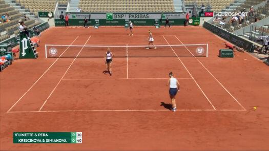 Linette i Pera przełamane w 1. gemie półfinału French Open