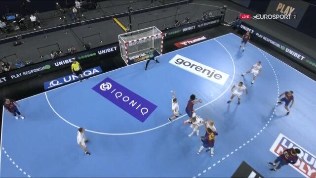 Piękny gol Barcy w drugiej połowie finału Final Four Ligi Mistrzów