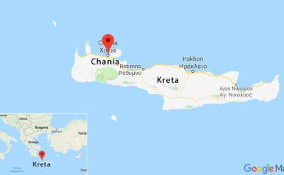 Ciało kobiety znaleziono w mieście Chania na północy Krety