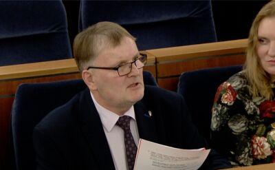 Kontrowersyjne słowa senatora Bonkowskiego o Dulkiewicz