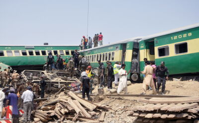 Katastrofa kolejowa w Pakistanie