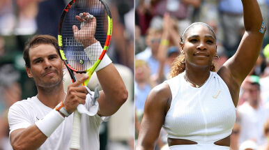 Wielcy faworyci nie zawodzą. Serena Williams i Rafael Nadal gromią rywali