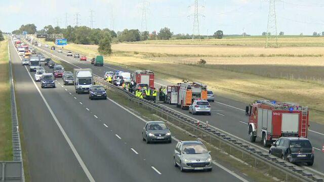 Osiem samochodów zderzyło się na A4 pod Wrocławiem