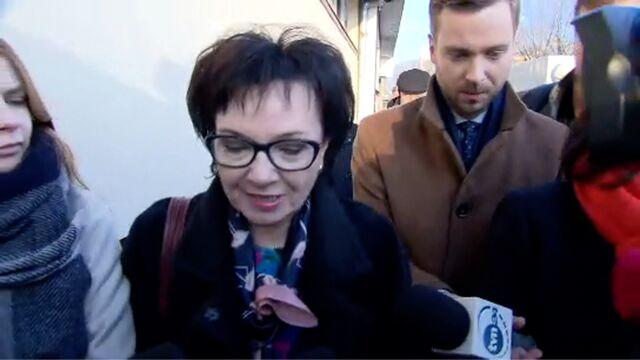 Elżbieta Witek o spotkaniu w siedzibie PiS