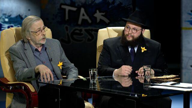 Szalom Dow Ber Stambler i prof. Zbigniew Mikołejko w Tak Jest