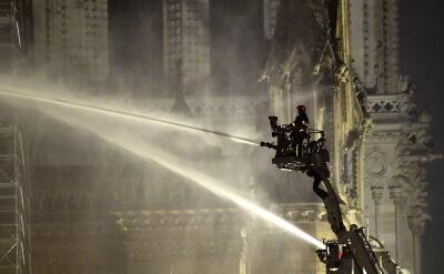 Pożar w katedrze Notre Dame ugaszony
