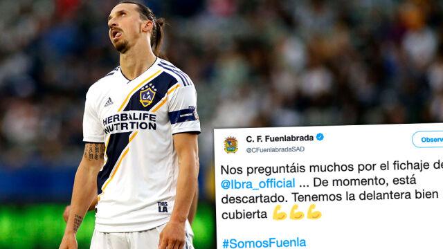 Zlatan sugeruje powrót do Hiszpanii. Drugoligowiec odpowiada żartem