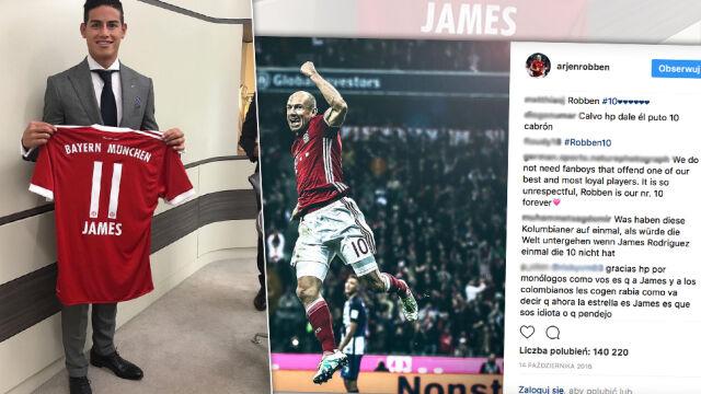 Afera koszulkowa w Bayernie. Fani Jamesa atakują Robbena