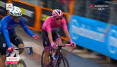 Grupa lidera wyścigu i Rafała Majki na mecie 12. etapu Giro d'Italia