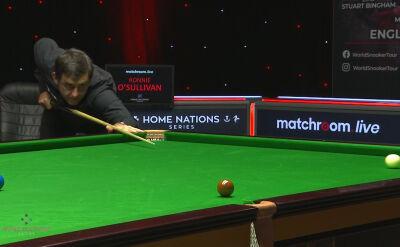 Świetna sekwencja wbić w wykonaniu O'Sullivana w 2. rundzie English Open