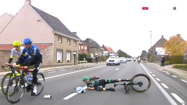 Absurdalny wypadek podczas wyścigu Dookoła Flandrii