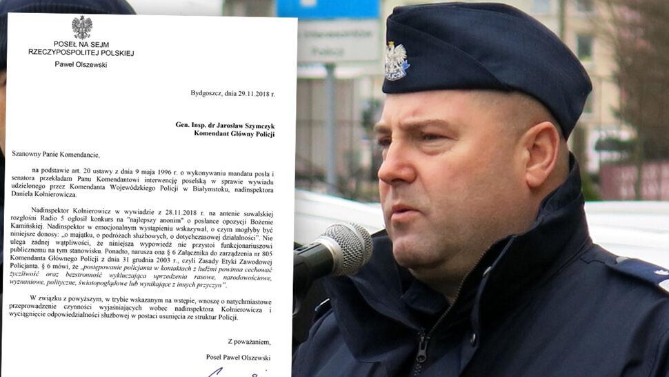"""Opozycja chce odwołania szefa podlaskiej policji za słowa o """"anonimach"""""""