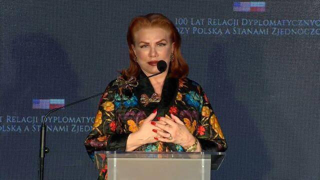 Wystąpienie ambasador USA na gali z okazji stulecia stosunków dyplomatycznych Polska-USA