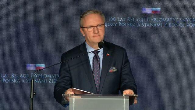 Odczytany list prezydenta Andrzeja Dudy z okazji stulecia stosunków dyplomatycznych Polska-USA