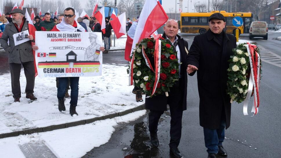 Marsz narodowców w Oświęcimiu, na czele Piotr Rybak. Brudziński: zdrowo szurnięci