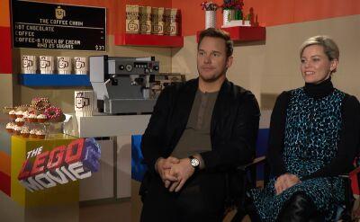 Chris Pratt i Elizabeth Banks w rozmowie z Anną Wendzikowską