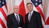 Konferecja Prezydenta Andrzeja Dudy z wiceprezydentm Mike'em Pence'em