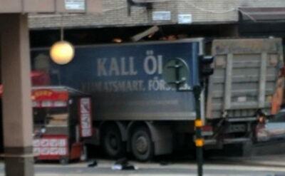 Sztokholm. Ciężarówka wjechała w ludzi