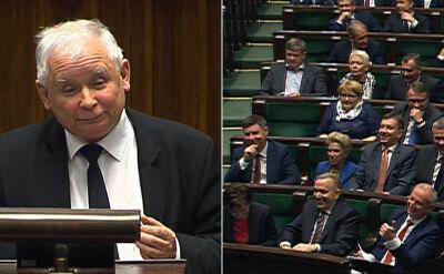 """Kaczyński o """"wyłanczaniu"""", posłowie prostują. Prezes PiS: będę mówił, jak mówię"""