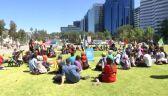 Protest klimatyczny w australijskim Perth