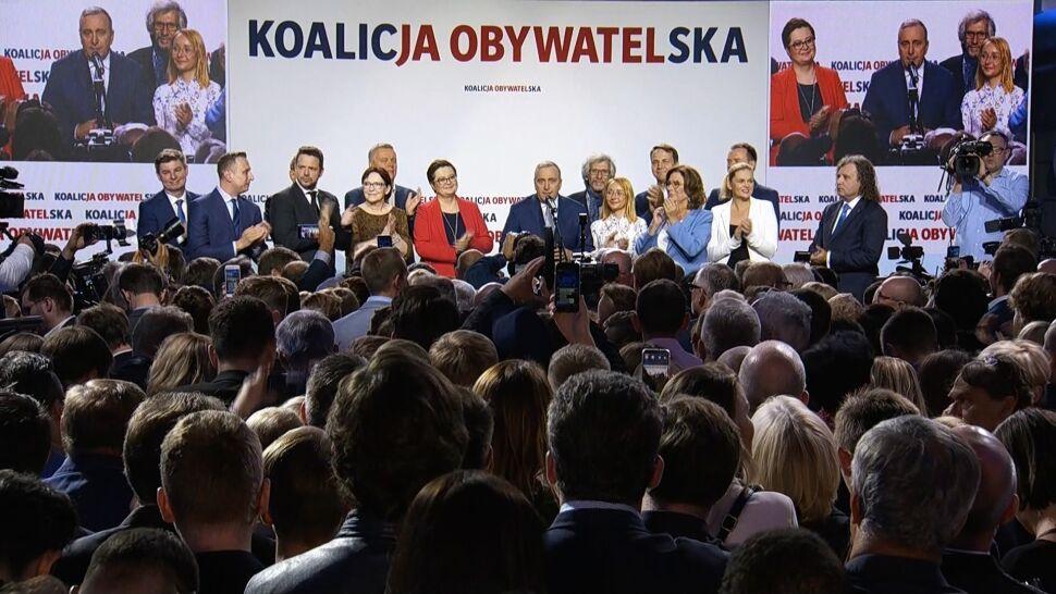 Grzegorz Schetyna o wynikach sondażowych wyborów parlamentarnych
