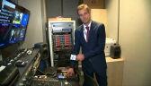 Reporter TVN24 Paweł Łukasik relacjonuje przygotowania do debaty wyborczej