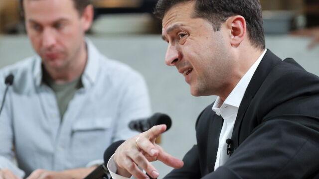 Zełenski chce wariografu po doniesieniach o łapówkach w partii prezydenckiej