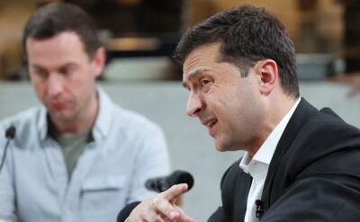 Wołodymyr Zełenski nie chce ingerować w wybory w USA