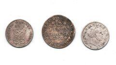 Srebrne niemieckie monety z XVIII i pierwszej połowy XIX wieku