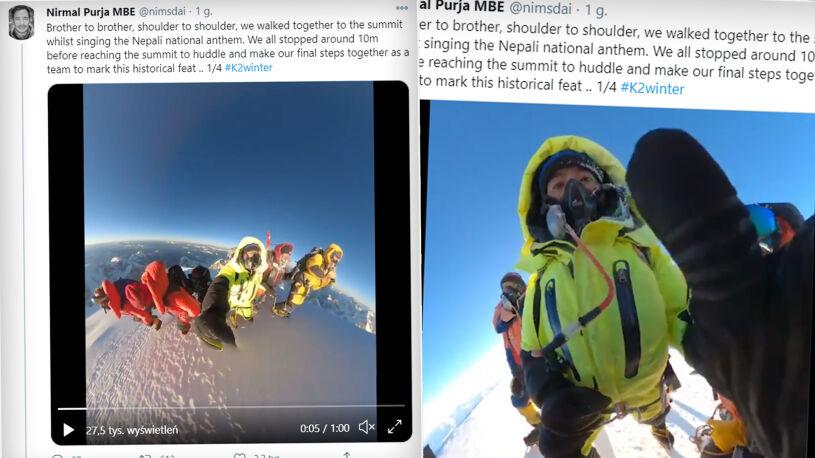 """Niesamowite nagranie Nepalczyków, tak zdobyli szczyt. """"Brat z bratem, ramię w ramię"""""""