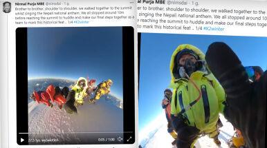 Niesamowite nagranie Nepalczyków, tak zdobyli szczyt.