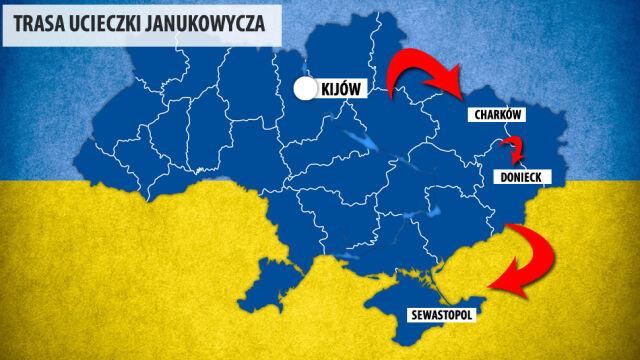 Ucieczka Janukowycza. Czy 300 żołnierzy piechoty morskiej ewakuuje go do Rosji?