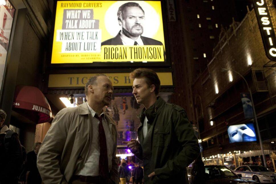 Michael Keaton i Edward Norton