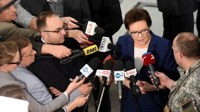 Grzegorz Schetyna i Ewa Kopacz komentują list szefa FBI