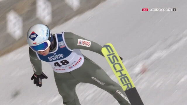 Skok Kamila Stocha z 2. serii konkursu w Zakopanem