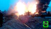 Słup dymu i ognia nad Jankowem Przygodzkim