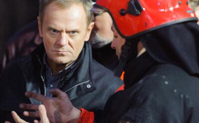 Konferencja Donalda Tuska na miejscu katastrofy