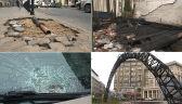 Połamane znaki, zniszczone samochody i podpalenia. Bilans zniszczeń po marszu
