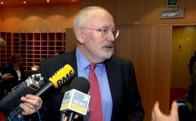 Timmermans: środki tymczasowe mogą być stosowane bezpośrednio