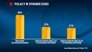 Euro w Polsce? Blisko połowa badanych: nigdy