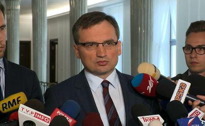 Ziobro: w wypowiedziach przedstawicieli Komisji pobrzmiewa nuta hipokryzji