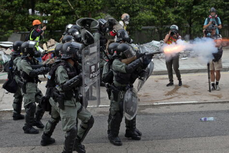 Kolejny dzień protestów  w Hongkongu