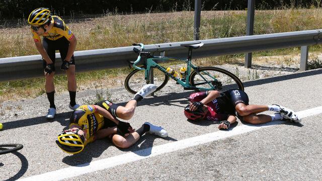 Holenderski kolarz stracił palec. Był to jego pierwszy poważny start w karierze