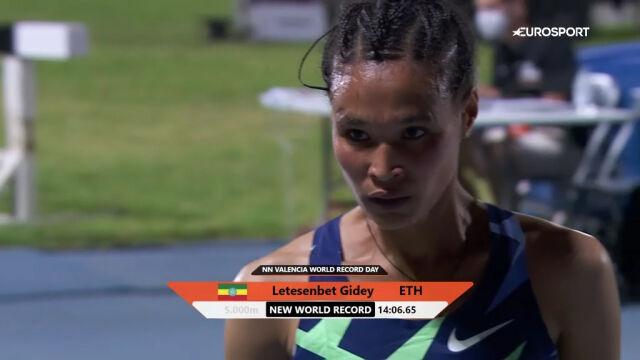 Gidey ustanowiła nowy rekord świata w biegu na 5000 m