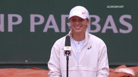 Świątek po awansie do finału Roland Garros