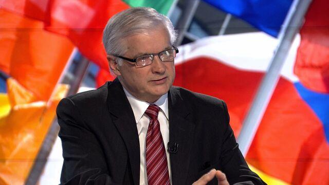 """Włodzimierz Cimoszewicz był gościem """"Faktów po Faktach"""" w TVN24"""