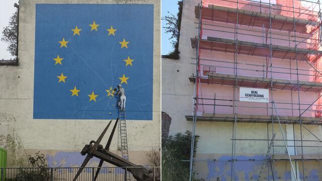 Brexitowy mural Banksy'ego zniknął z Dover