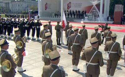 Na placu Piłsudskiego został odśpiewany Mazurek Dąbrowskiego